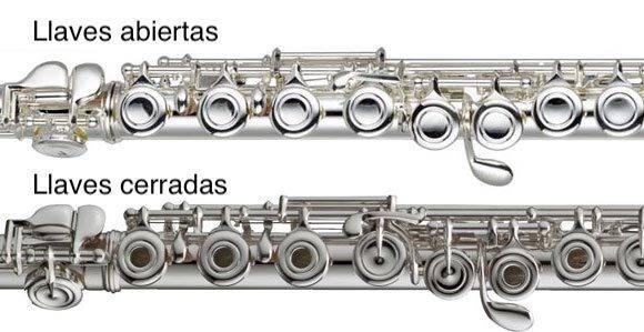 Agujero abierto vs flautas de agujero cerrado