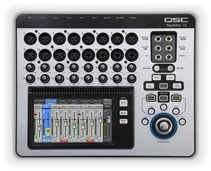 Mezcladora Digital QSC Touchmix 16