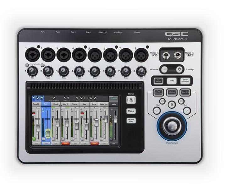 Mezcladora Digital QSC Touchmix 8 canales