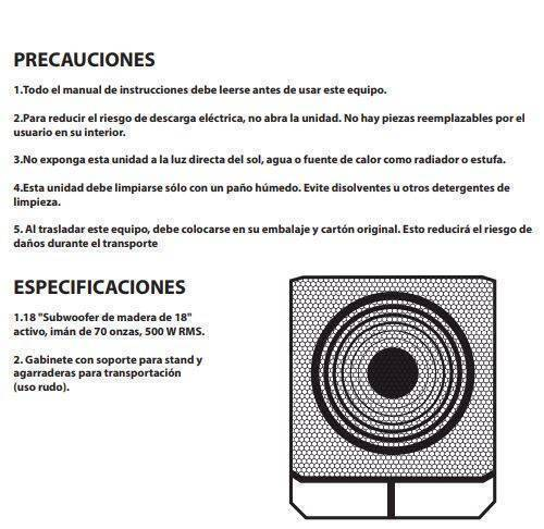 "SPA-S18M Subwoofer de Madera 1-18"" Activo HIGH LINE"