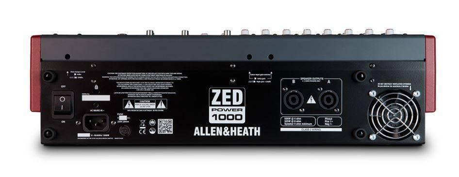 Mezcladora Allen & Heat Amplificada Zed Power 1000