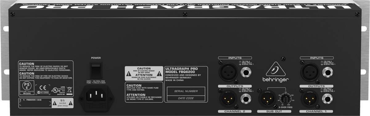 Ecualizador grafico stereo Behringer FBQ6200