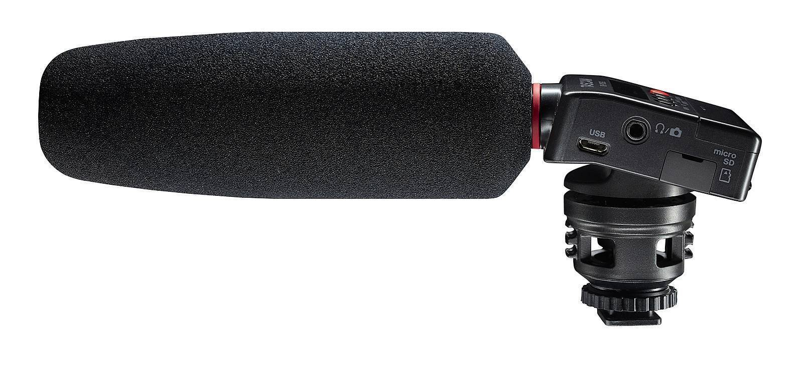 DR-10SG Camera-mountable audio recorder with shotgun microphone