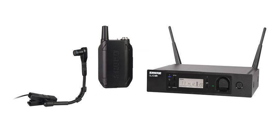 Sistema inalambrico Shure GLXD14R/B98 montable en rack con bodypack y micro para instrumento Beta98H/C