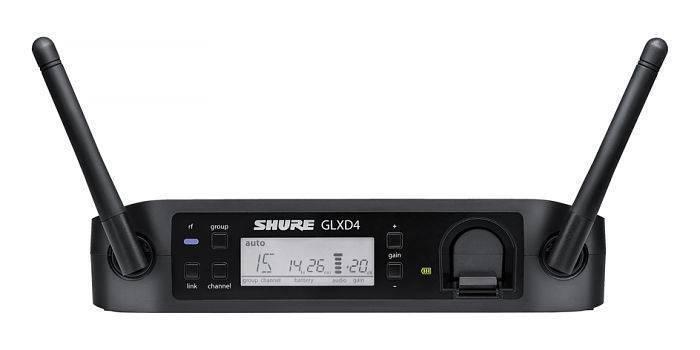 Receptor Digital Shure GLXD4 integra cargador para batería