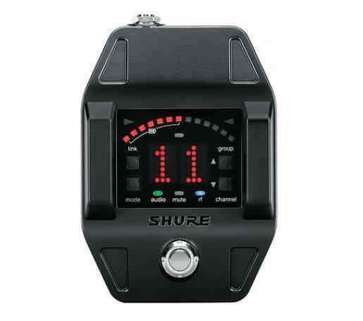 Receptor Digital tipo pedal de efectos Shure GLXD6  afinador e indicador de la vida de bater'a.