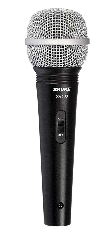 Microfono Bobina Movil Con Cable Shure Sv100