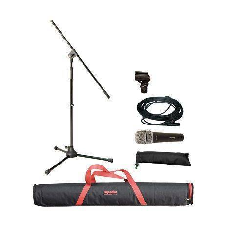 MSK10B(X)Pqte Microfono Dinamico, Stand, Cable xlr-xlr Superlux