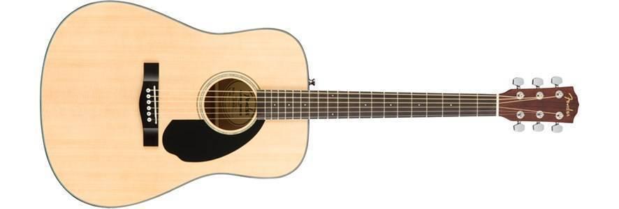 Paquete Guitarra Acustica Fender Cd-60s Natural