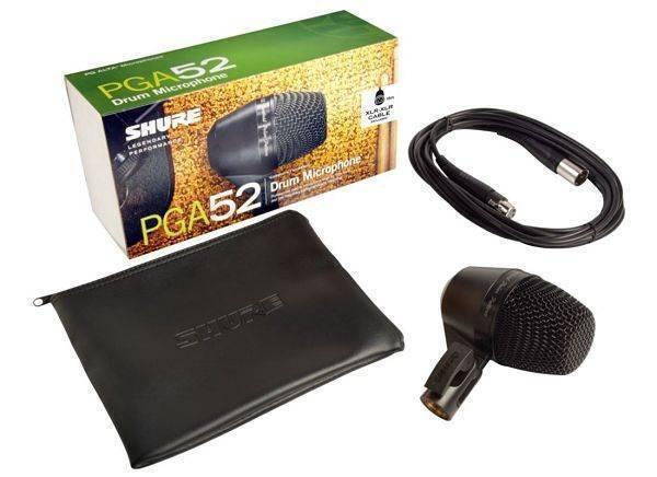 Microfono para bajo electrico, contrabajo, bombo Cable-XLR