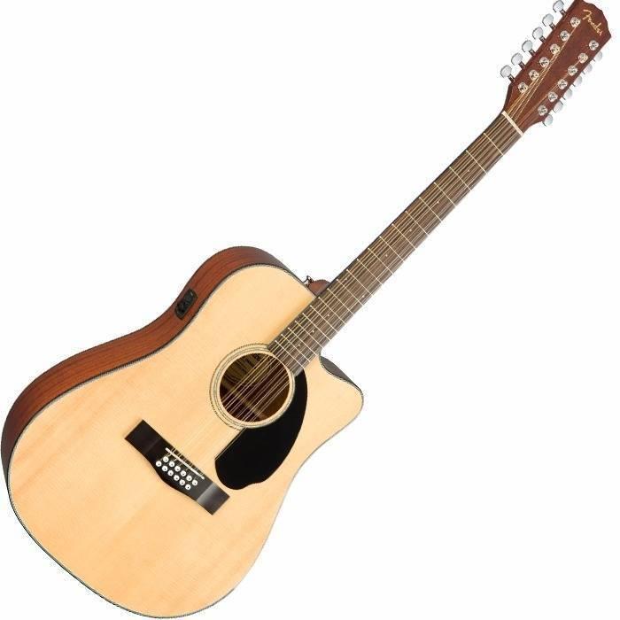Guitarra Fender Cd-60sce 12 Cuerdas Natural