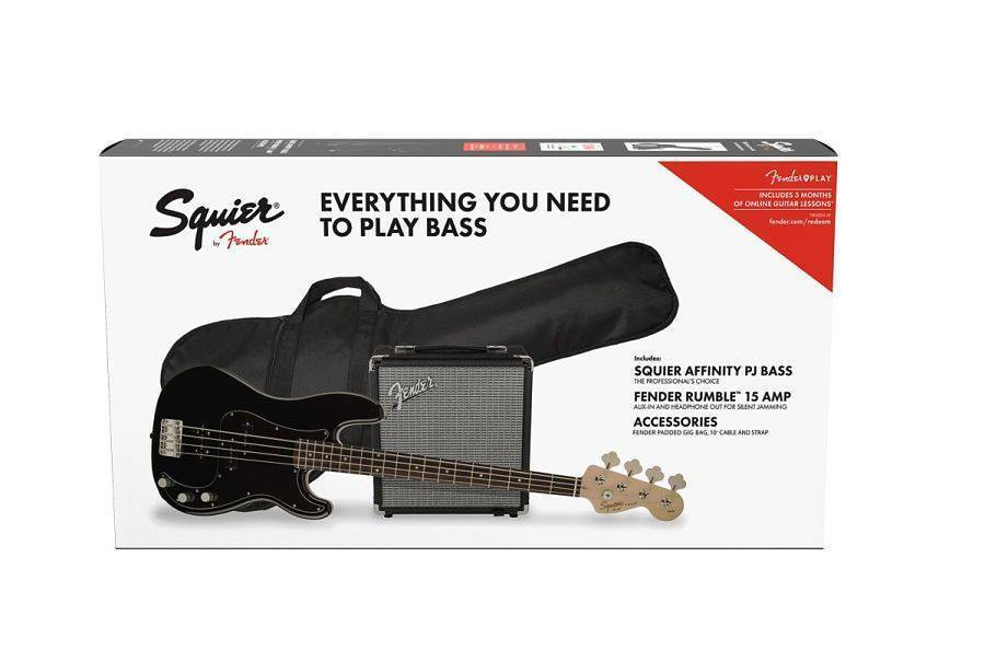 Paquete Bajo Fender Affinity PRECISION BASS PJ PACK