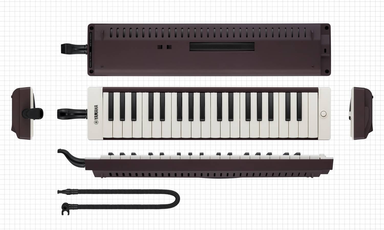 Pianica Yamaha De 37 Teclas Color Cafe