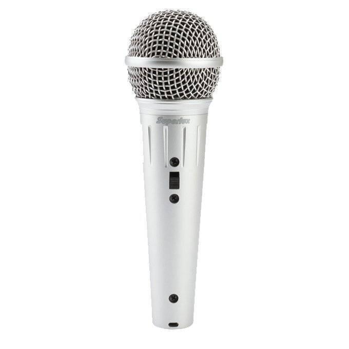 Micrófono Superlux Vocal Blanco con Cable XLR a XLR