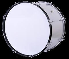 Tambora De Marcha Lm Drums 24x12 Blanca