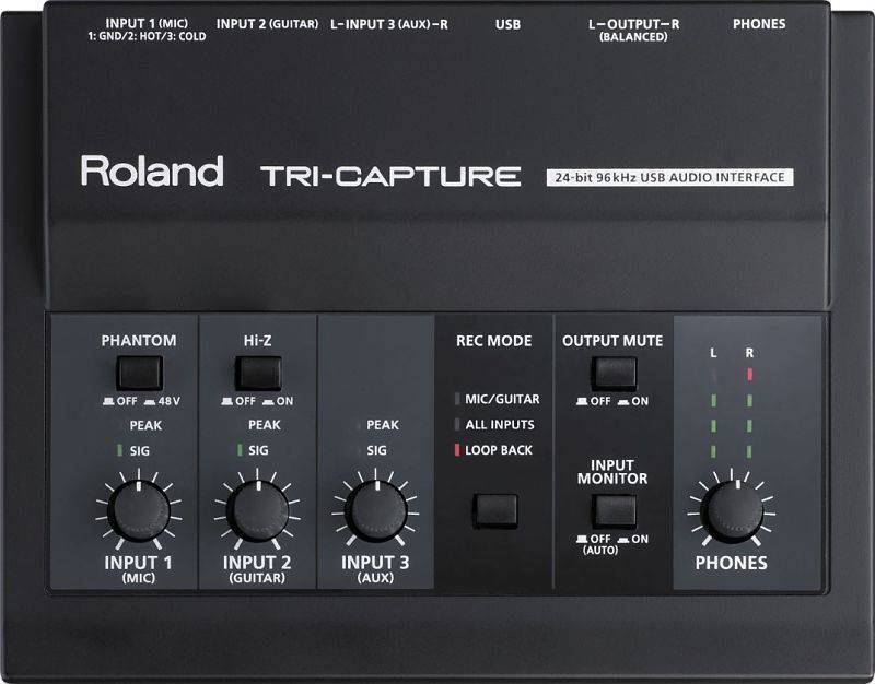Interface Roland  TRI-CAPTURE