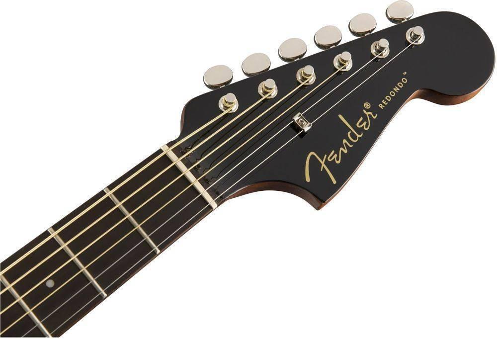 Guitarra Electro Acústica Fender Redondo Player Negra 0970713506