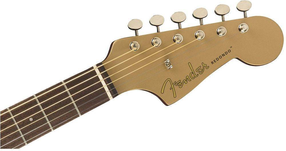 Guitarra Electro Acustica Fender Redondo Player Dorada 0970713553