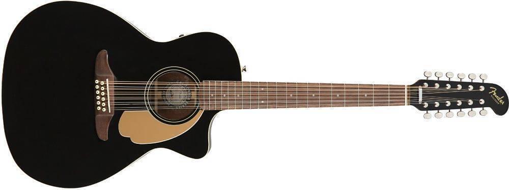 Guitarra de 12 cuerdas Fender Villager Negra 0970753006