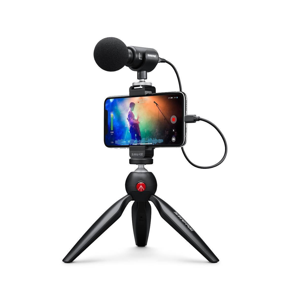 MV88+ VIDEO KIT MICROFONO SHURE CONDENSADOR DIGITAL ESTEREO MV88 + VIDEO KIT