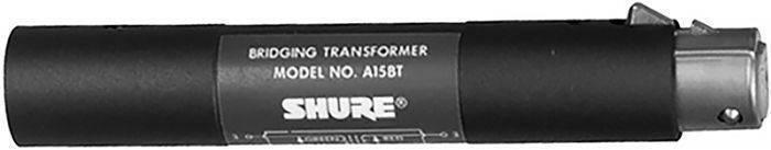 Transformador Baja Imp. Shure A15BT (600/7000 ohms, XLR macho) a Alta Imp. (3000 ohms XLR hembra).