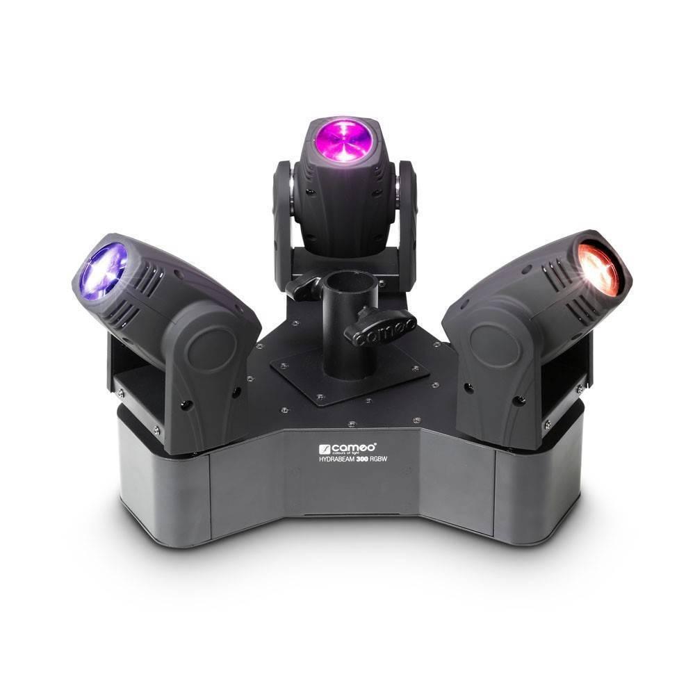 CLHB300RGBW Set de 3 Cabezas Móviles LED RGBW de 10W Ultra Rapidas CAMEO