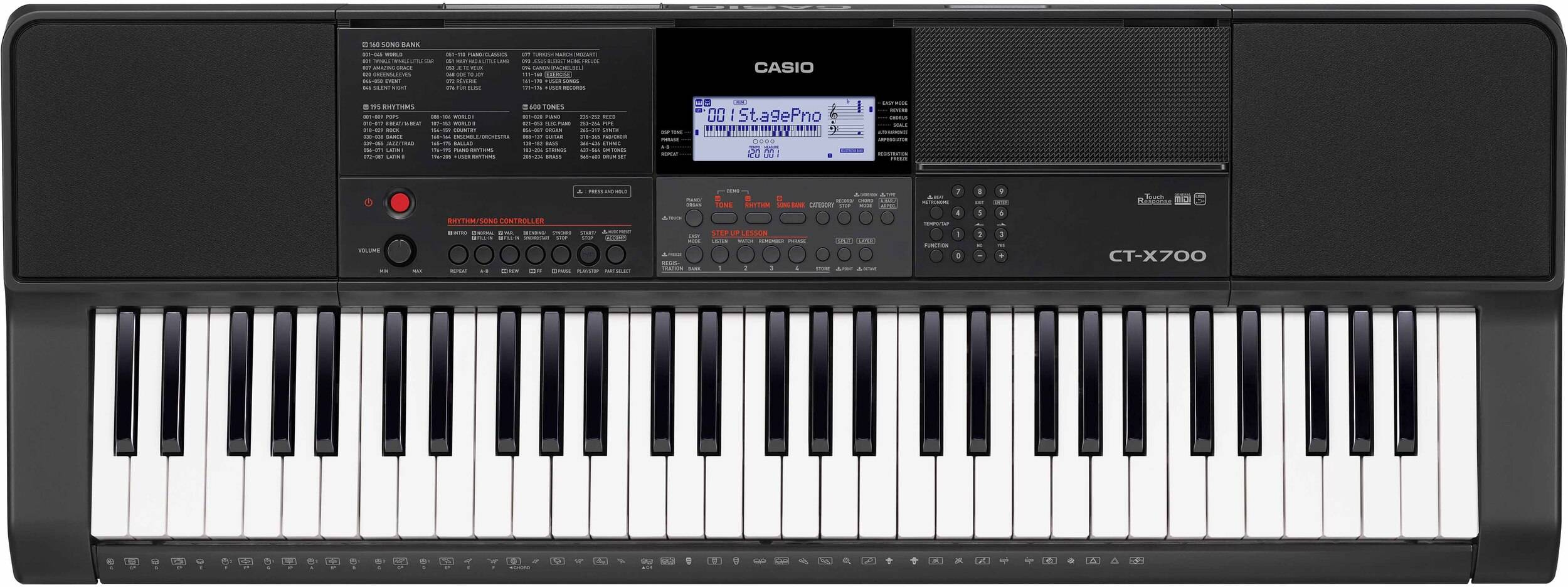 TECLADO CASIO PORTATIL CT-X700