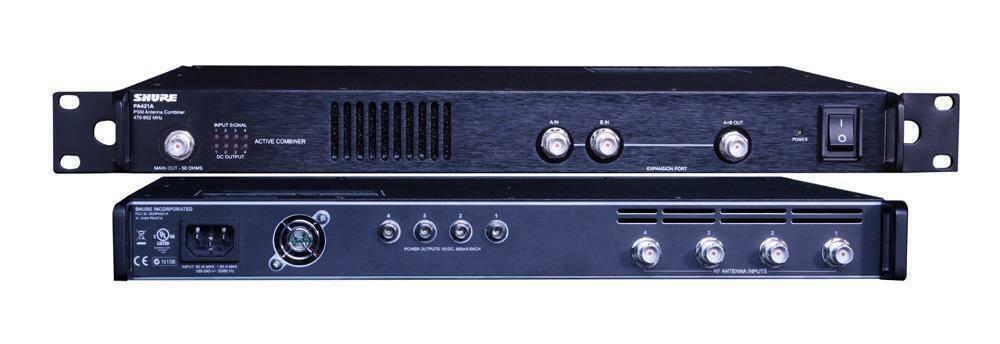 Combinador de se–al de antena para 4 transmisores, compatible con todos los sistemas SHURE.