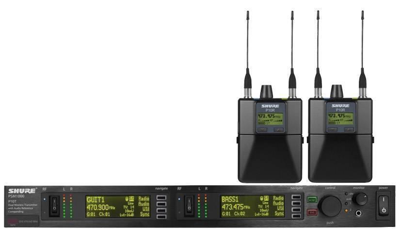 Sistema de monitoreo canal doble PSM1000 con 2 receptores P10R