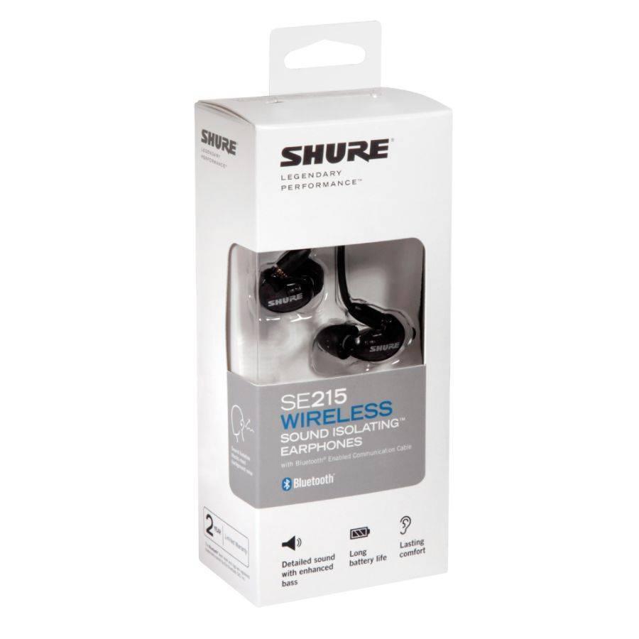 Shure SE215-BT1 Audífonos In-Ear Inalámbricos con Bluetooth, Color Negro