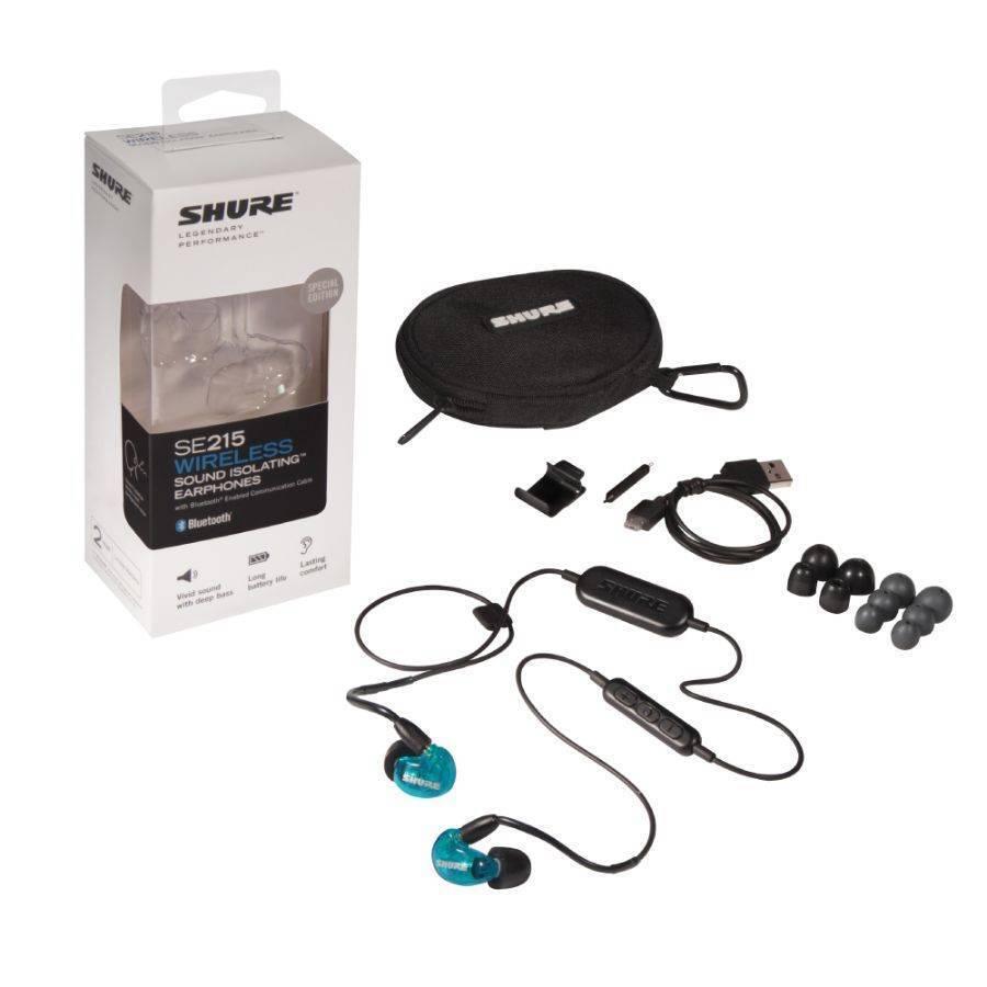 Shure SE215SPE-BT1 Audifonos In-Ear Inalambricos con Bluetooth, Color Azul