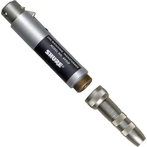 "Transformador Shure A95UF Baja Impedancia (XLR) a Alta Impedancia (plug 1/4"" macho."