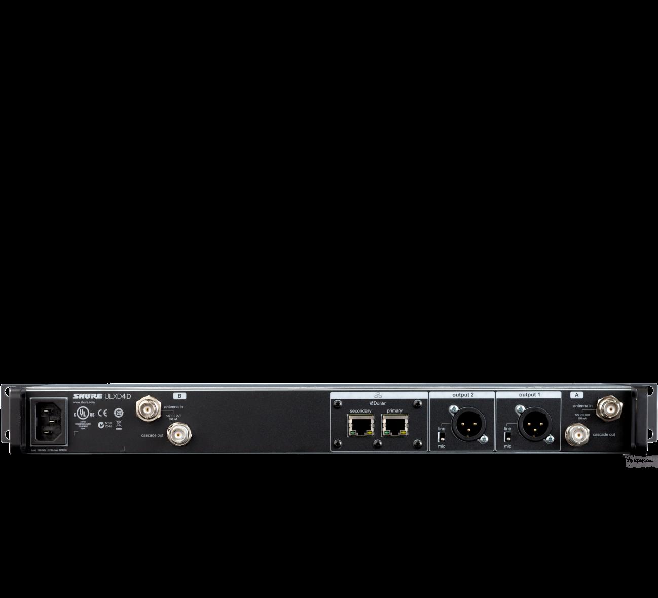 Receptor Inalámbrico Digital dual ULXD4D