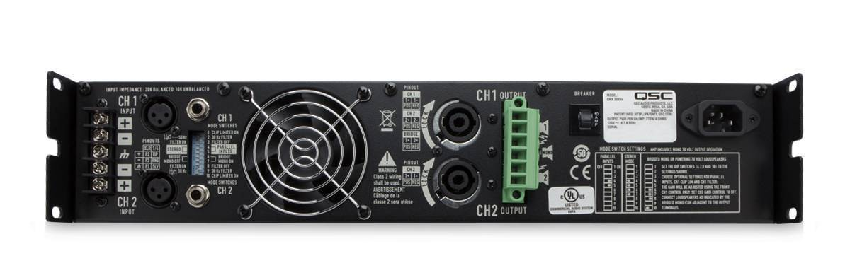 Amplificador de 2 canales de 500W por canal