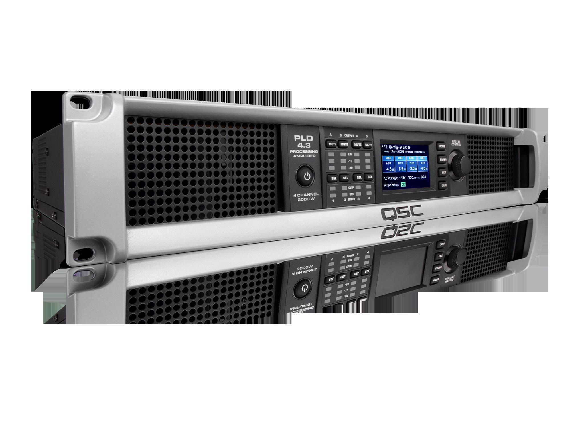 Amplificador 4 Canales con DSP  y panel LCD QSC PLD4.3