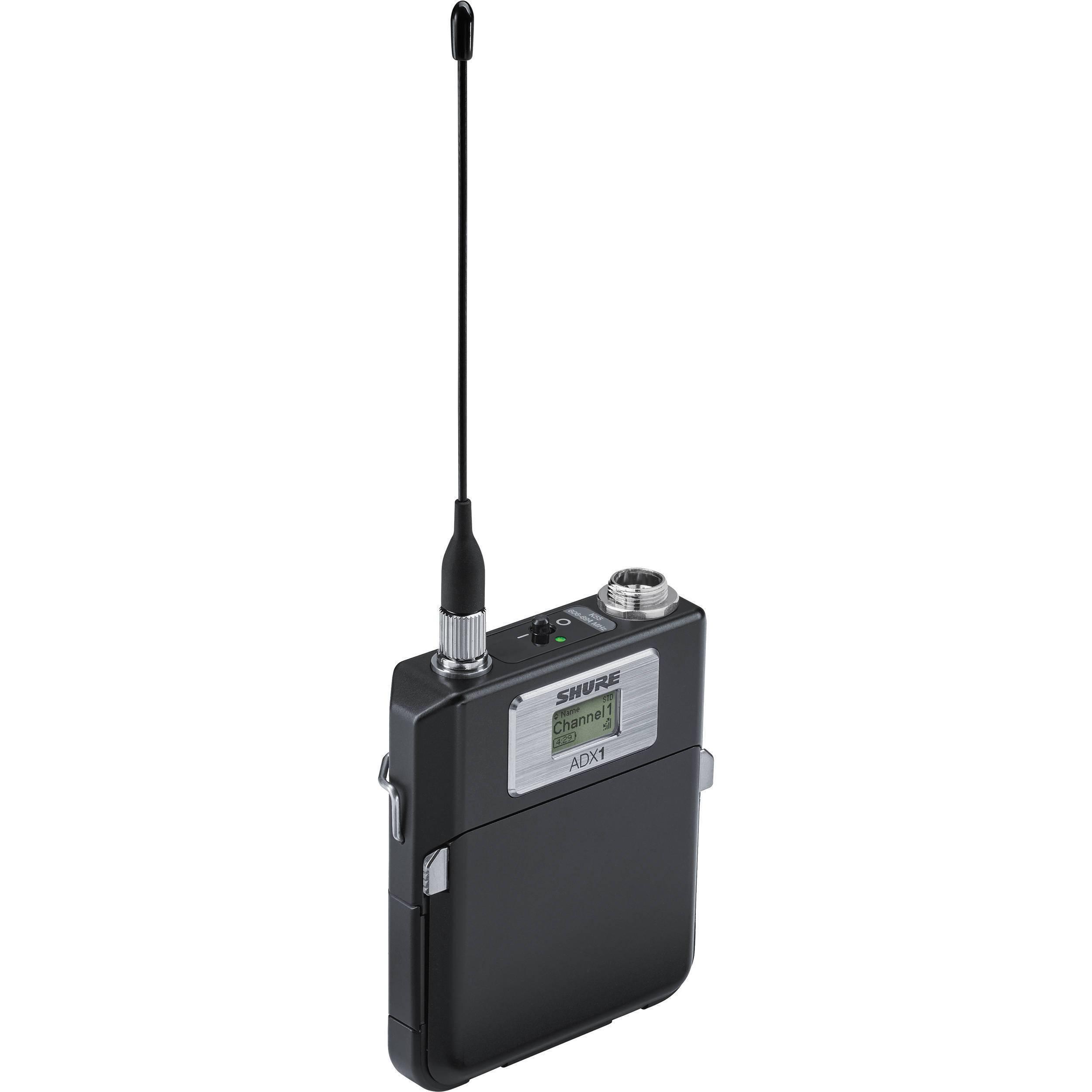 Transmisor de cuerpo (Body Pack) Axient Digital, recarga avanzada y control remoto ShowLink  conector LEMO3