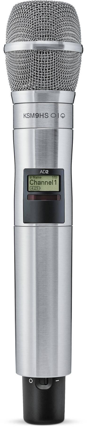 Transmisor de mano Axient Digital, con KSM9, Hipercard/Subcard, Níquel