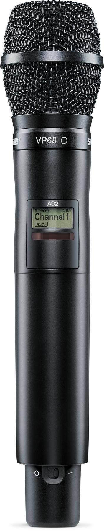 Transmisor de mano Axient Digital, con VP68
