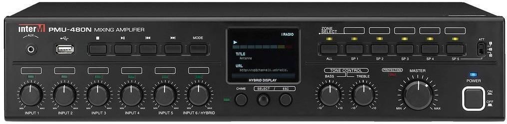 Amplificador mezclador digital de 600W