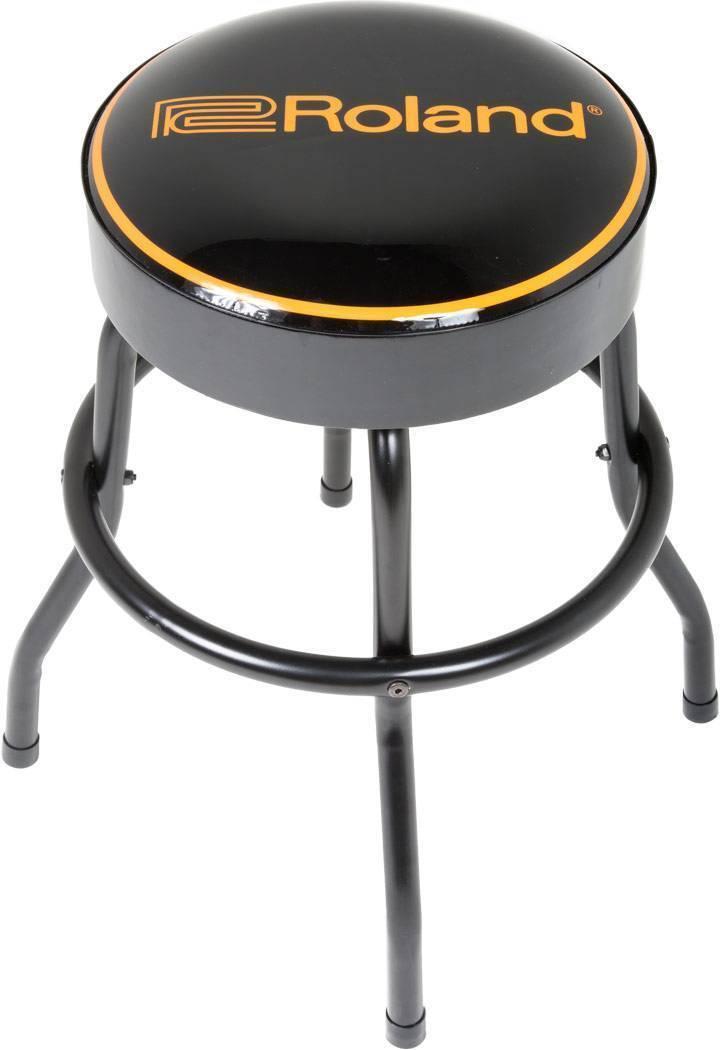 """Banco Taburete c/asiento movible logo roland 30"""" color negro"""