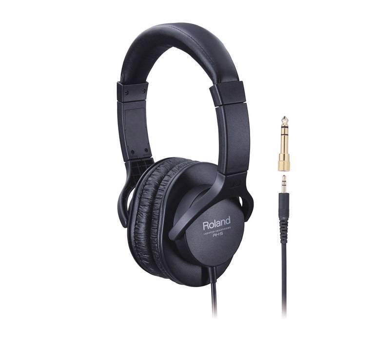 Audífonos Roland cover ear diseño Closed-Back cable liso color negro