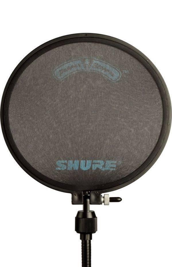"""Filtro anti """"POP"""" Shure PS-6 con cuello flexible y herraje para montar en pedestales de micrófono"""