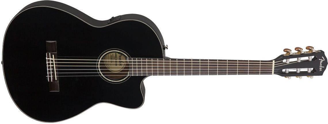 Guitarra electro-acústica CN-140SCE Nylon color negro