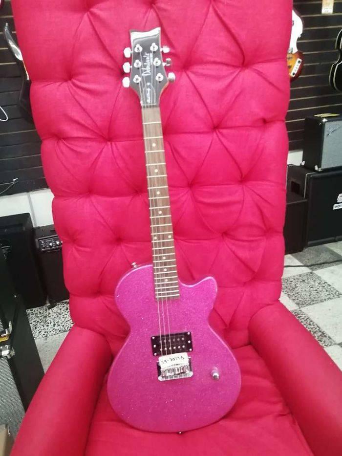 Guitarra Electrica Rock candy rosa atomic.