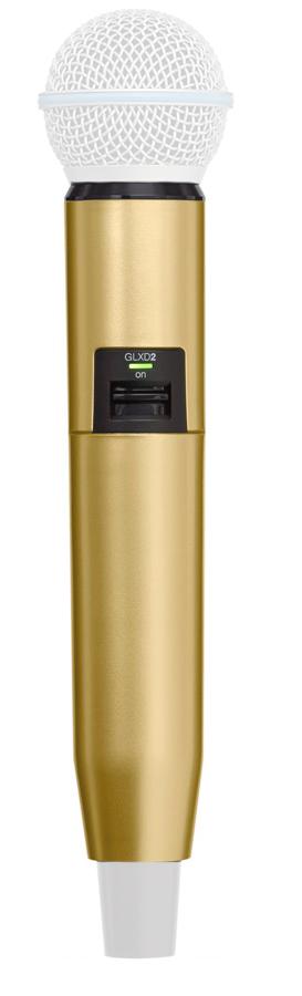 Manga decorativa en color oro para el transmisor de mano GLXD con SM58 BETA58