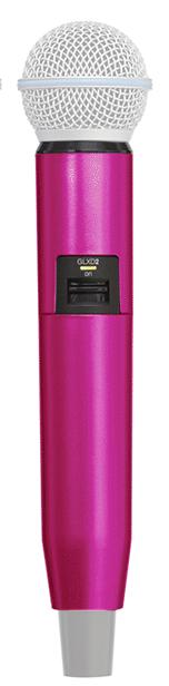 Manga decorativa en color rosa para el transmisor de mano GLXD con SM58 — BETA58