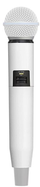 Manga decorativa en color blanco para el transmisor de mano GLXD con SM58 — BETA58