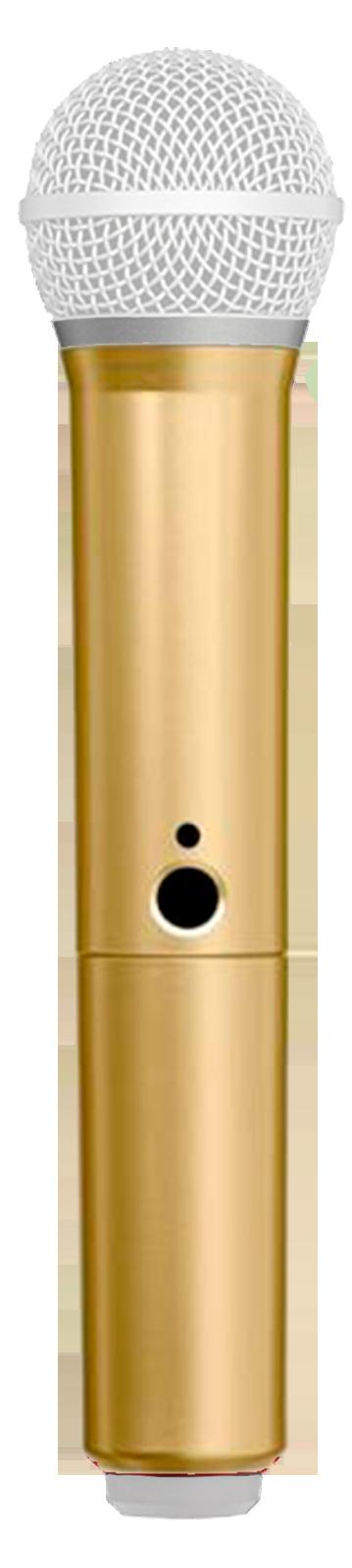 Manga decorativa en color oro para el transmisor de mano BLX con PG58