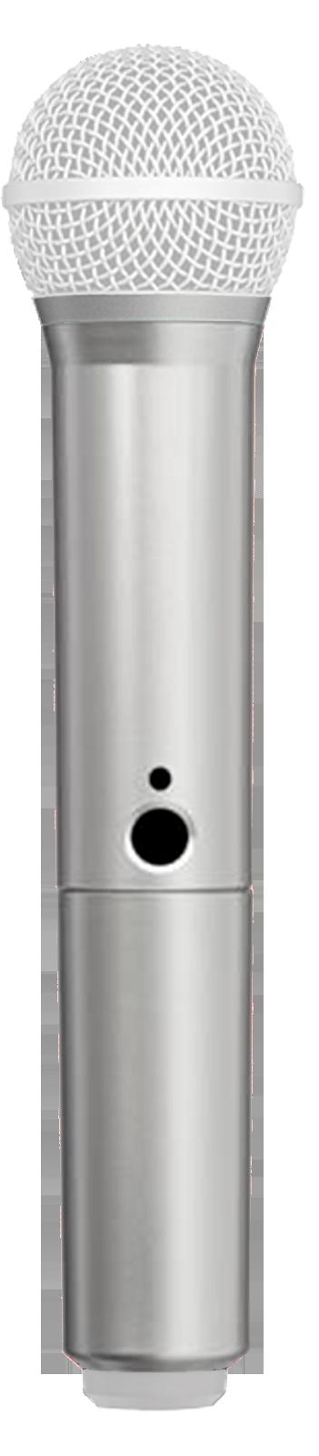 Manga decorativa en color plata para el transmisor de mano BLX con SM58 BETA58