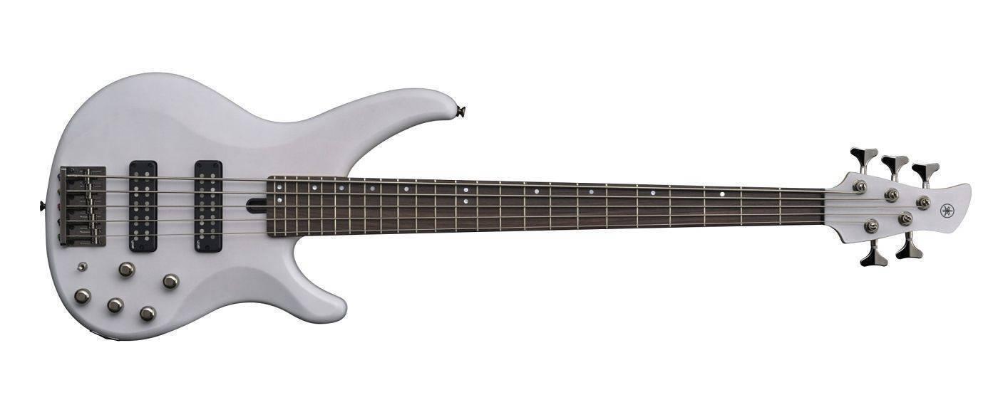 Bajo Yamaha 5 cuerdas TRBX505 Blanco Translucido